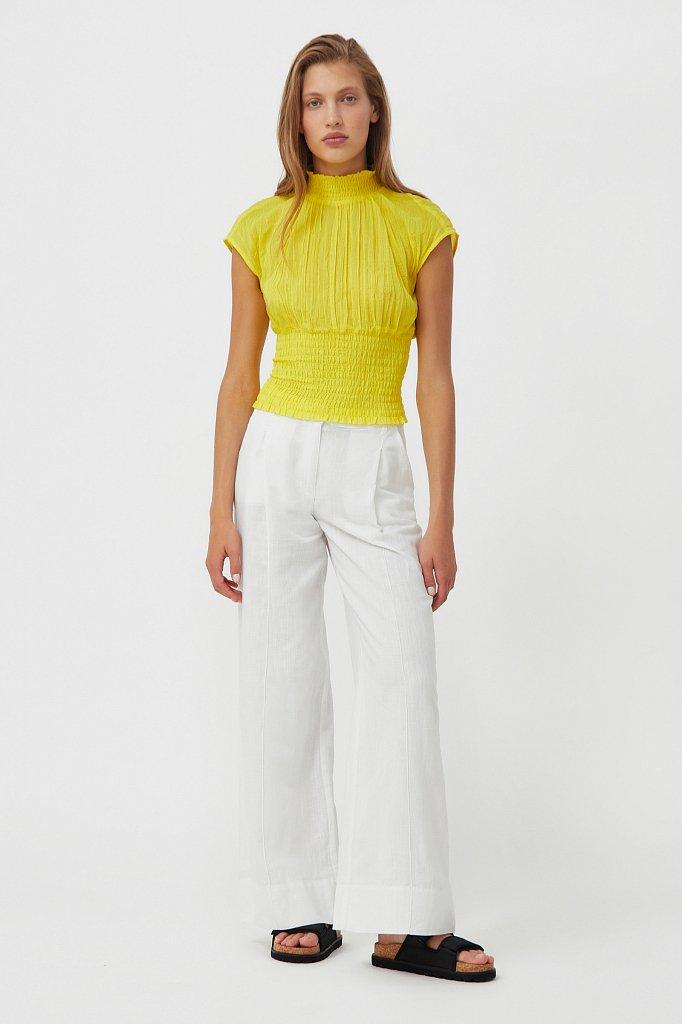 Блуза из жатого хлопка, Модель S21-11099, Фото №2