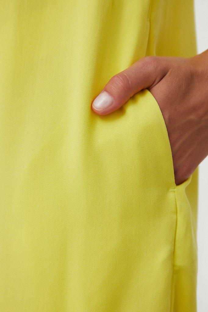 Платье прямого кроя с отложным воротником, Модель S21-12090, Фото №5