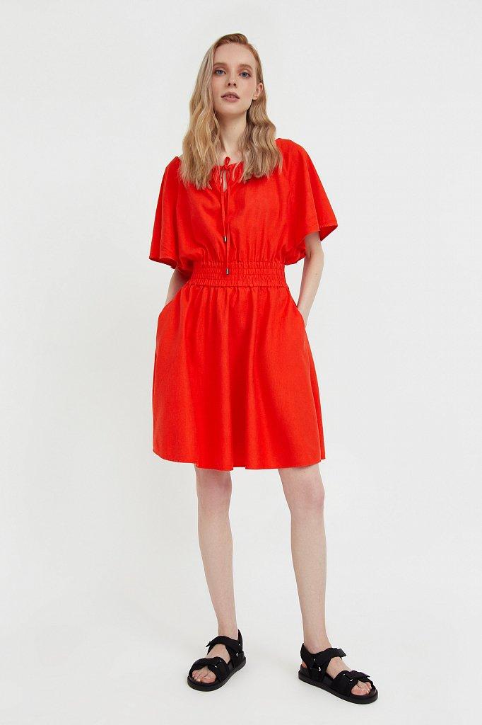 Платье-мини с объемными рукавами, Модель S21-12018D, Фото №2
