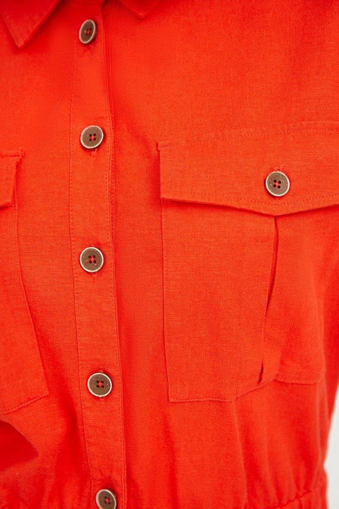 Платье-рубашка с короткими рукавами, Модель S21-12028, Фото №5