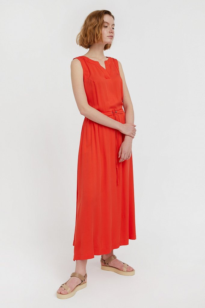 Платье макси без рукавов, Модель S21-12092, Фото №3