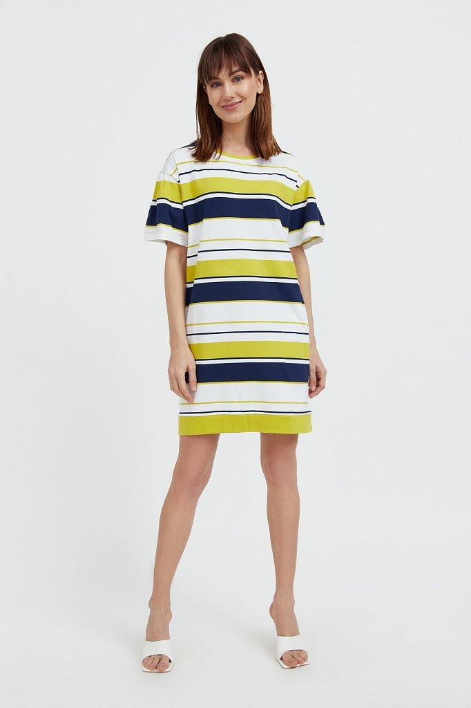 Хлопковое платье в полоску, Модель S21-14052, Фото №2
