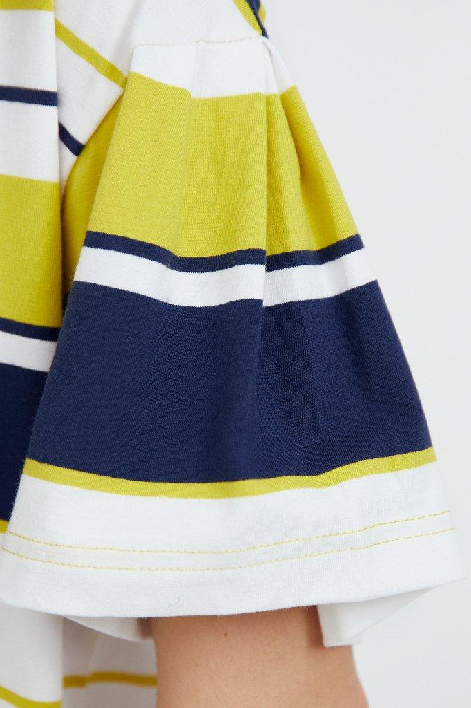 Хлопковое платье в полоску, Модель S21-14052, Фото №5