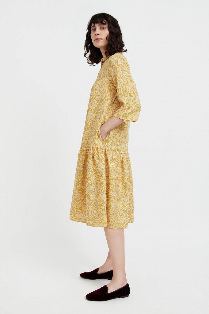 Платье-миди с растительным узором, Модель S21-14077, Фото №1