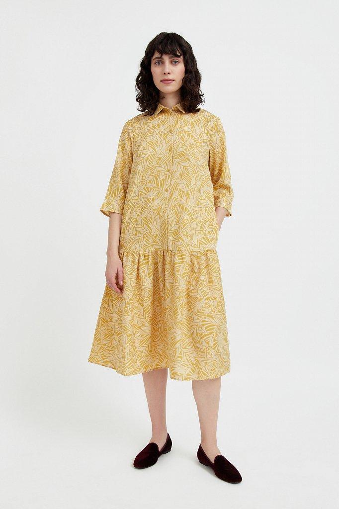 Платье-миди с растительным узором, Модель S21-14077, Фото №2