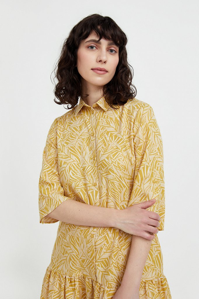 Платье-миди с растительным узором, Модель S21-14077, Фото №6