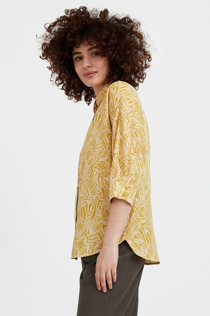 Рубашка с растительным орнаментом, Модель S21-14081, Фото №4