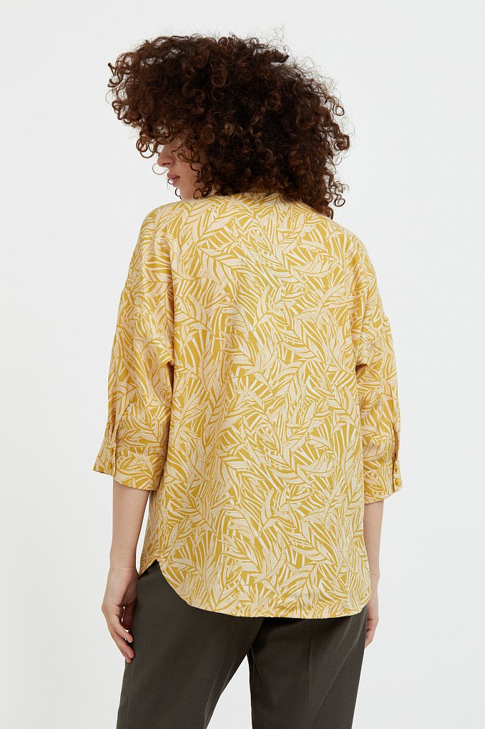 Рубашка с растительным орнаментом, Модель S21-14081, Фото №5