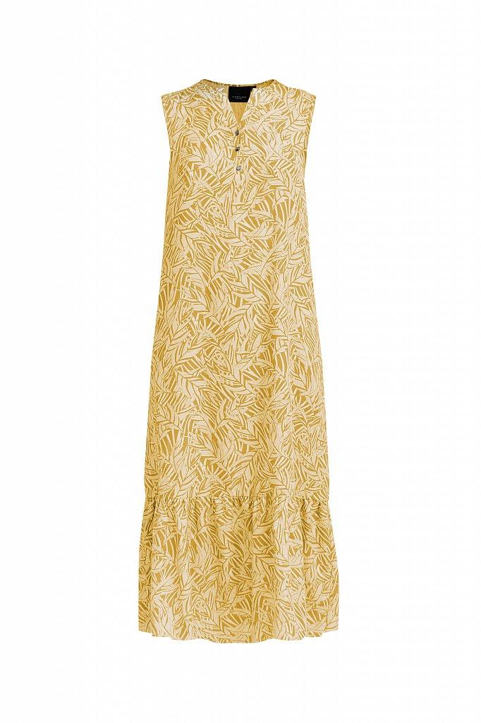 Платье-макси с растительным узором, Модель S21-14082, Фото №7