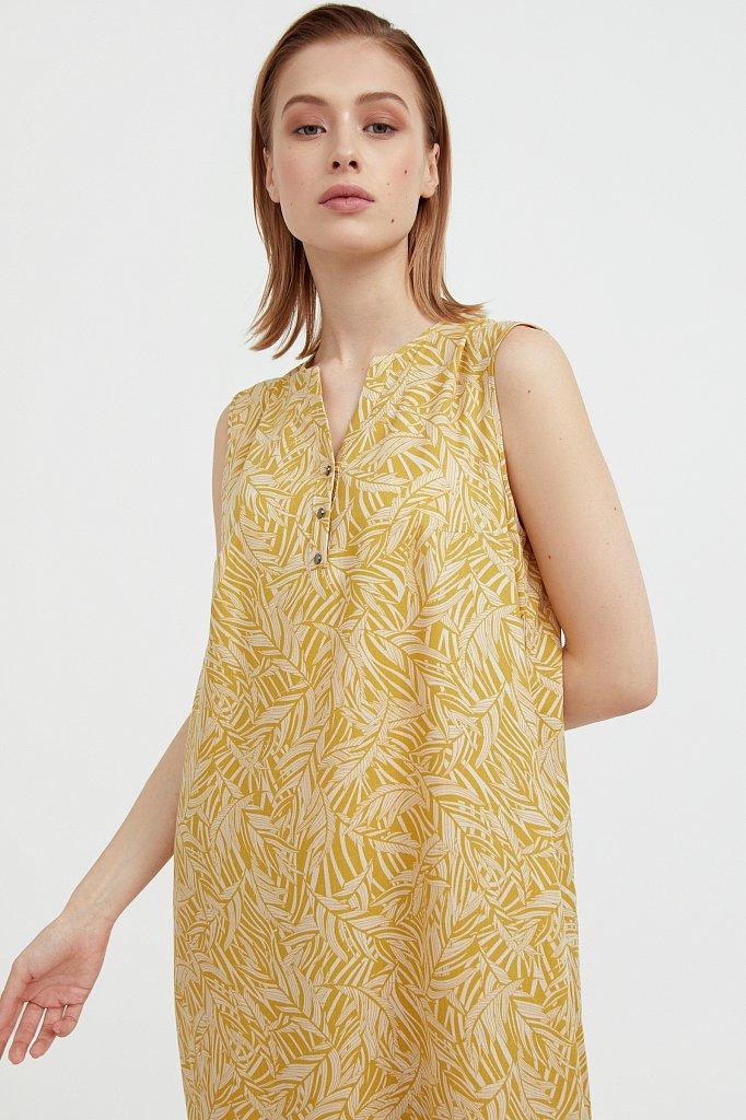 Платье-макси с растительным узором, Модель S21-14082, Фото №6