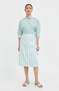Полосатая юбка миди с запахом S21-110117