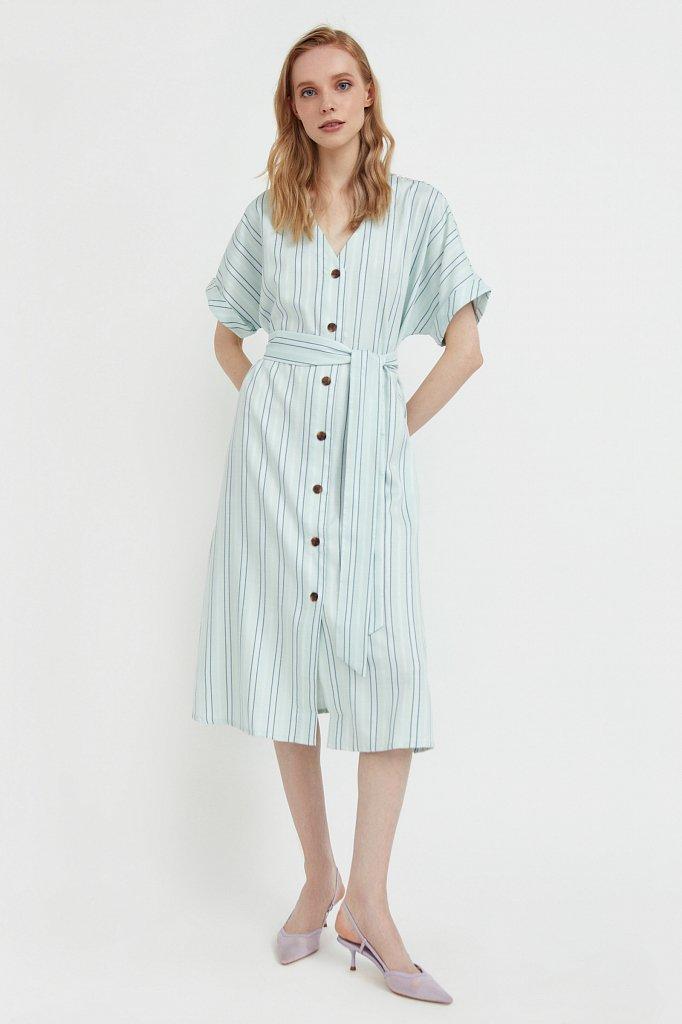 Платье-рубашка с геометричным принтом, Модель S21-11002, Фото №2