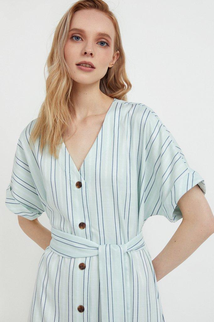Платье-рубашка с геометричным принтом, Модель S21-11002, Фото №6