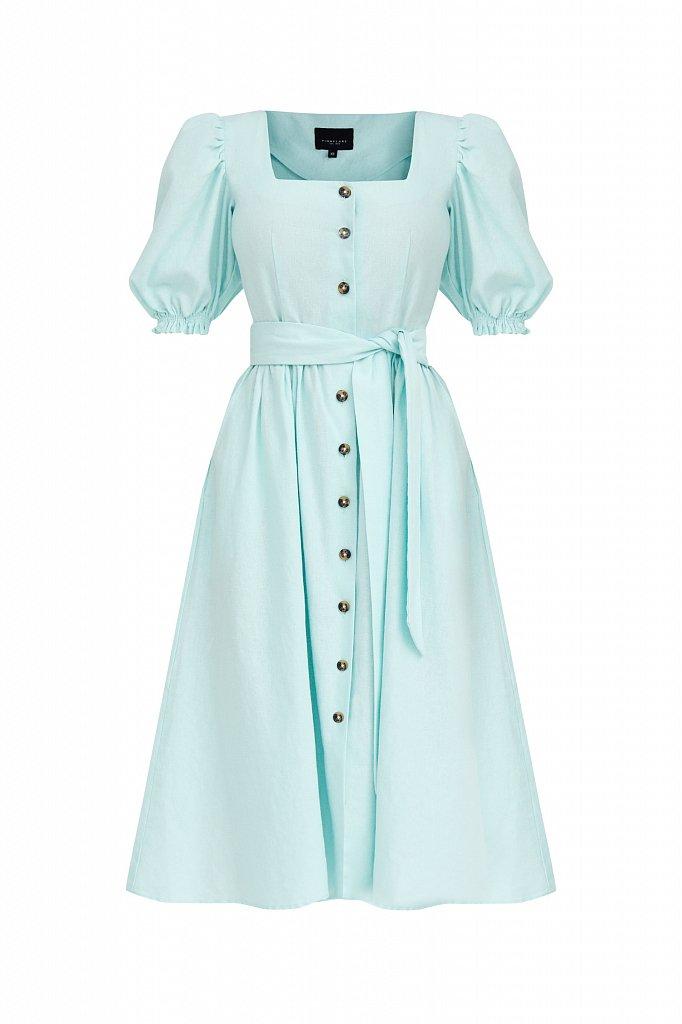 Платье-миди изо льна и хлопка, Модель S21-11012, Фото №7