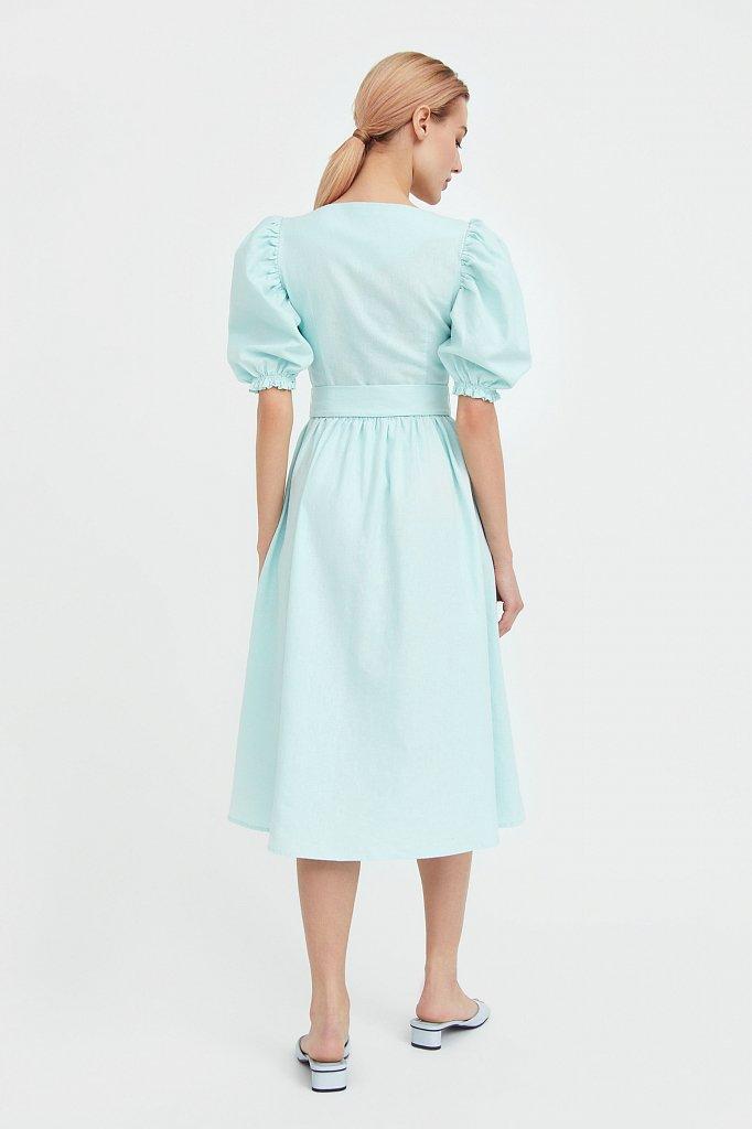 Платье-миди изо льна и хлопка, Модель S21-11012, Фото №4