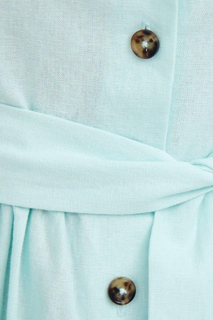 Платье-миди изо льна и хлопка, Модель S21-11012, Фото №5