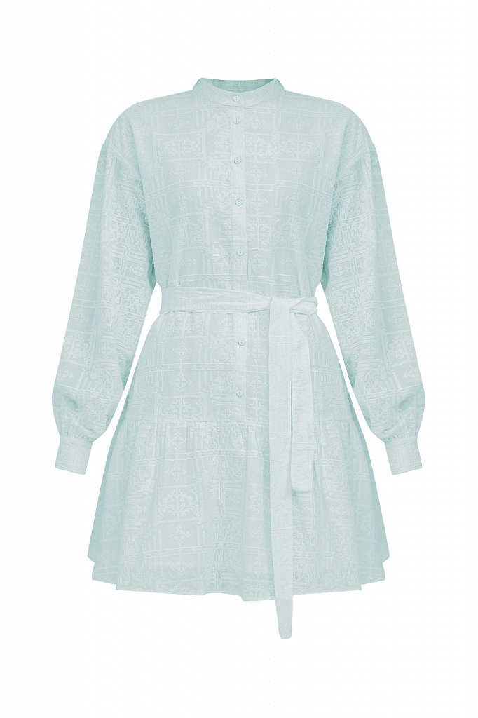 Платье-мини из натурального хлопка, Модель S21-11018, Фото №7