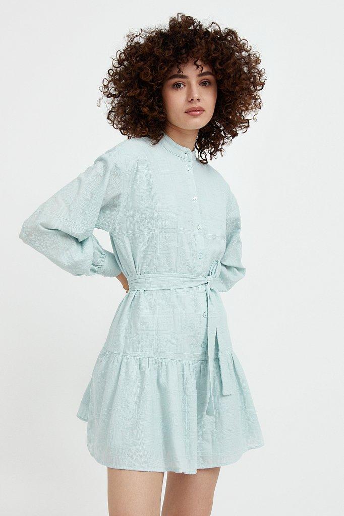 Платье-мини из натурального хлопка, Модель S21-11018, Фото №2