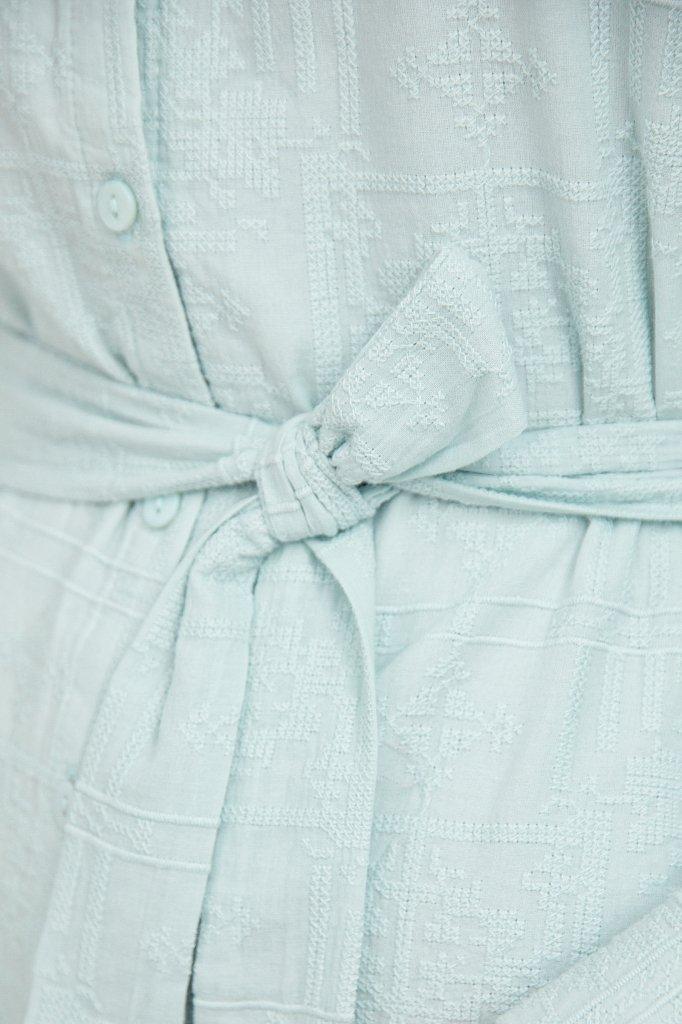 Платье-мини из натурального хлопка, Модель S21-11018, Фото №5