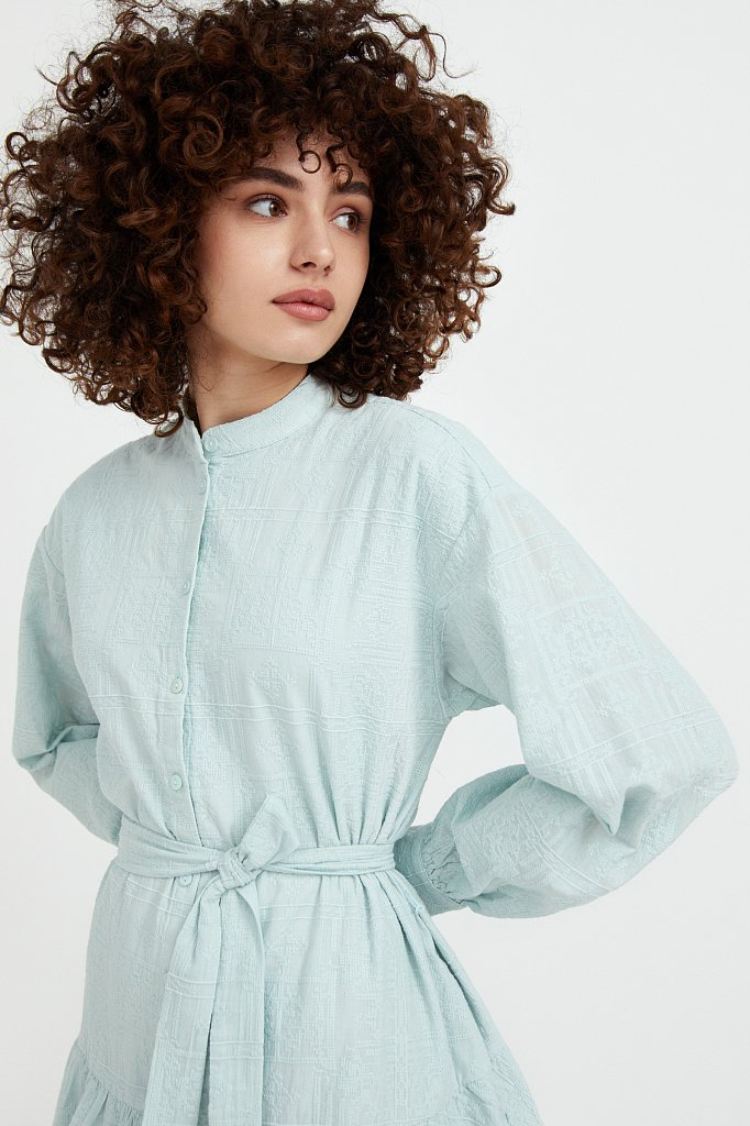 Платье-мини из натурального хлопка, Модель S21-11018, Фото №6