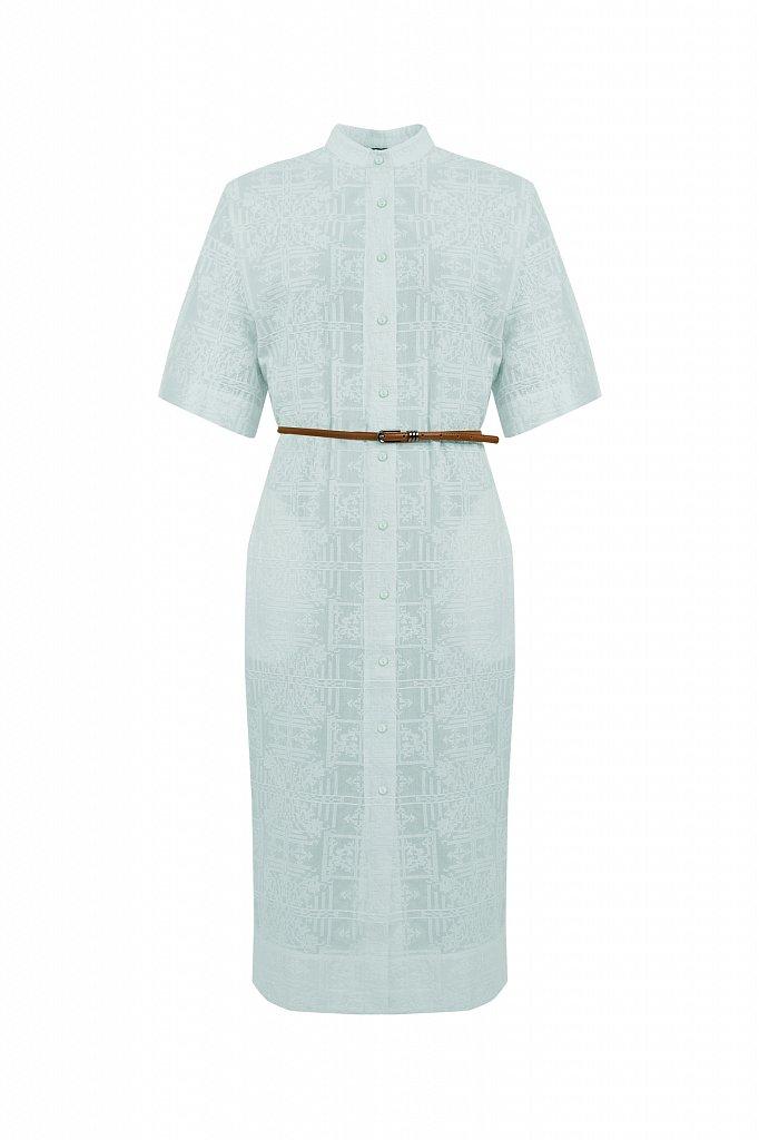 Хлопковое платье с набивным рисунком, Модель S21-11028, Фото №7