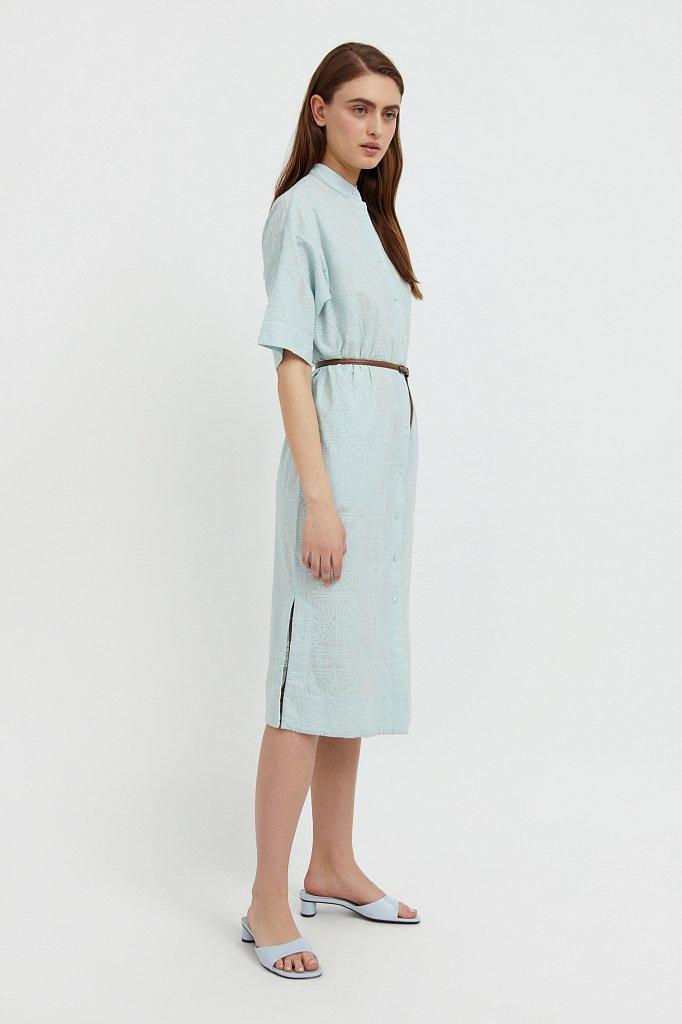 Хлопковое платье с набивным рисунком, Модель S21-11028, Фото №3