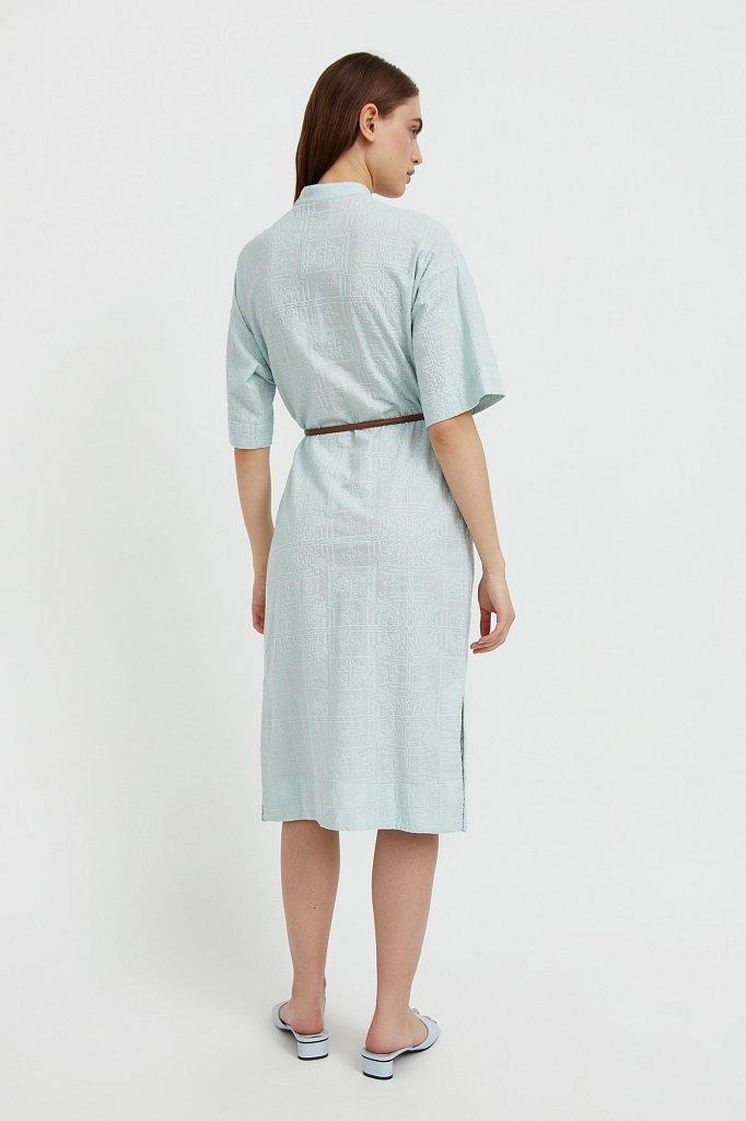 Хлопковое платье с набивным рисунком, Модель S21-11028, Фото №4