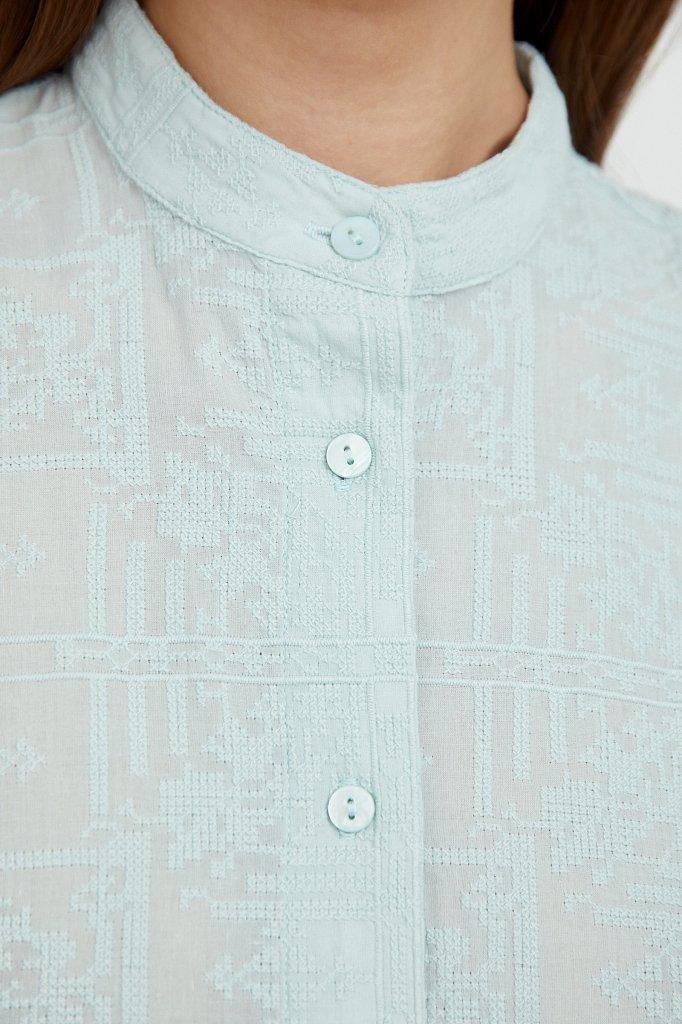Хлопковое платье с набивным рисунком, Модель S21-11028, Фото №5