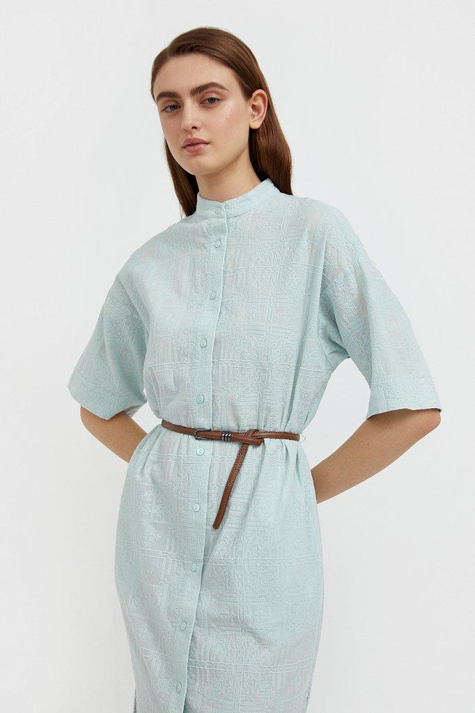 Хлопковое платье с набивным рисунком, Модель S21-11028, Фото №6