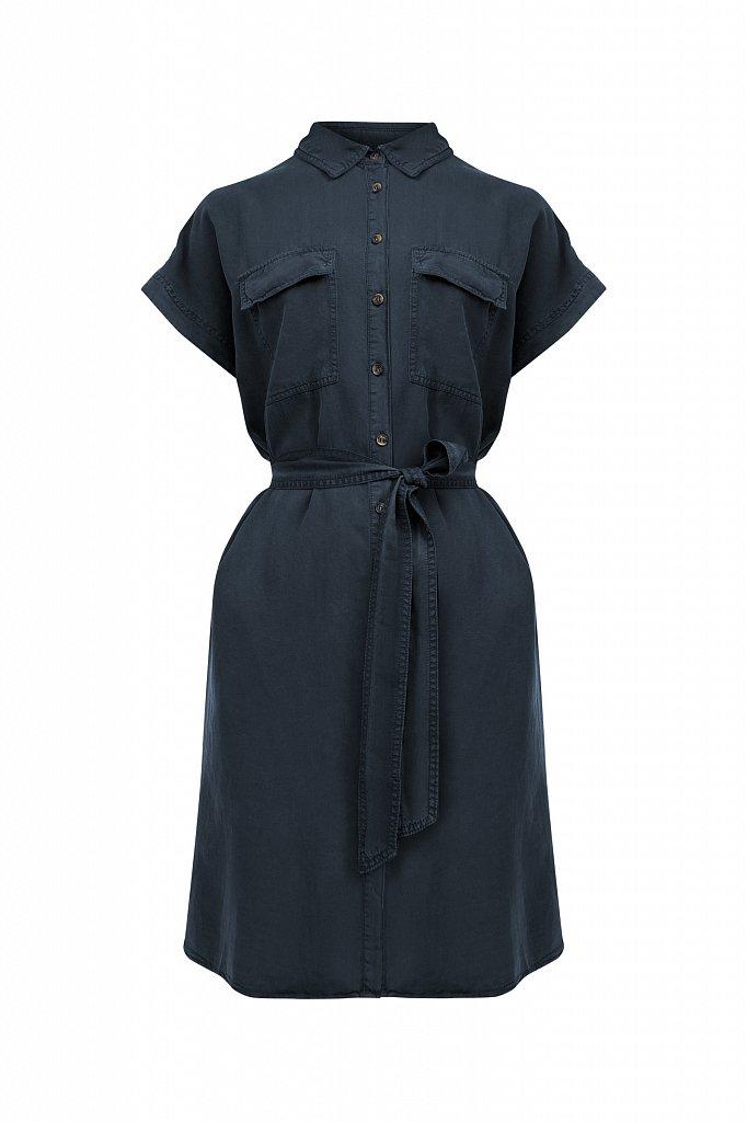 Платье-рубашка из мягкой вискозы, Модель S21-15007, Фото №7