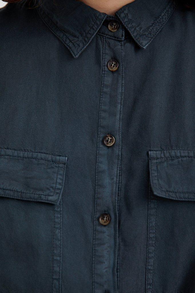 Платье-рубашка из мягкой вискозы, Модель S21-15007, Фото №6