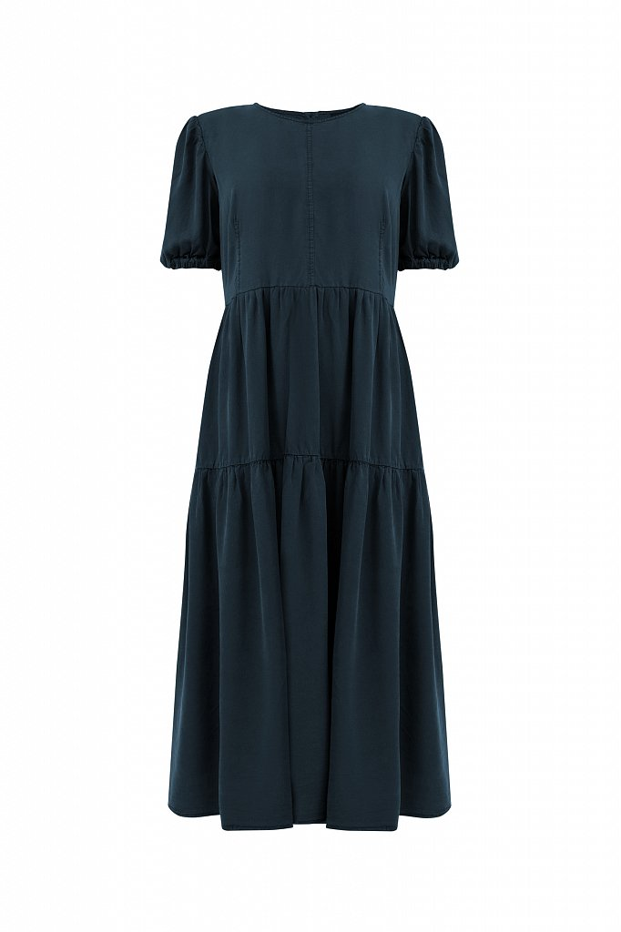 Длинное платье с рукавами-фонариками, Модель S21-15008, Фото №7