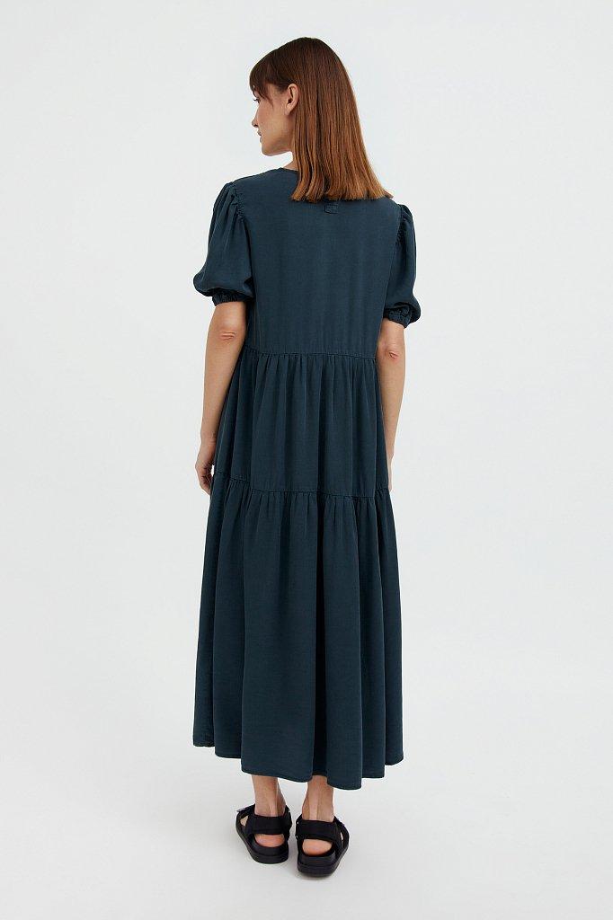 Длинное платье с рукавами-фонариками, Модель S21-15008, Фото №4