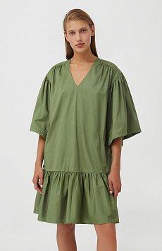 Хлопковое платье с объемными рукавами S21-11080