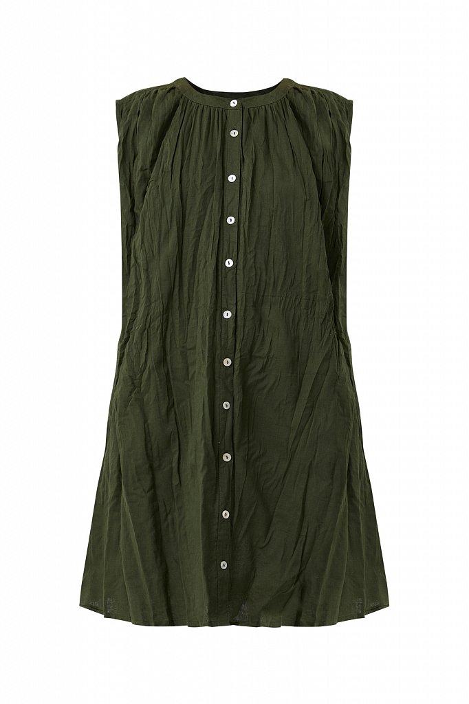 Удлиненная хлопковая блузка, Модель S21-110100, Фото №8