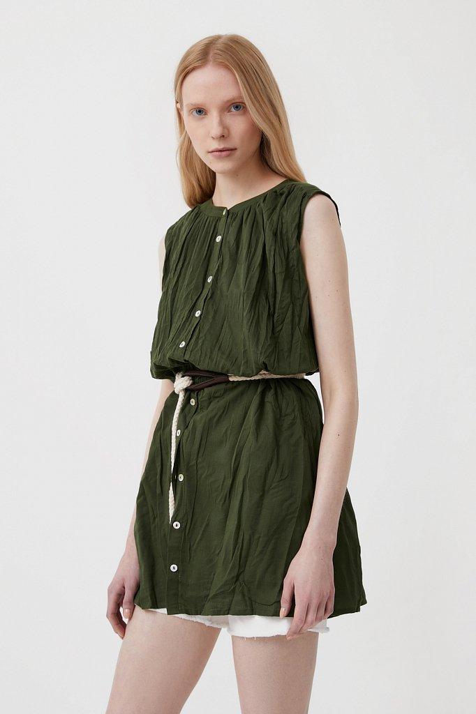 Удлиненная хлопковая блузка, Модель S21-110100, Фото №4