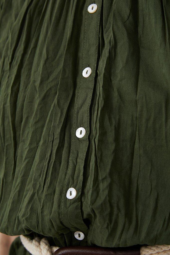 Удлиненная хлопковая блузка, Модель S21-110100, Фото №6