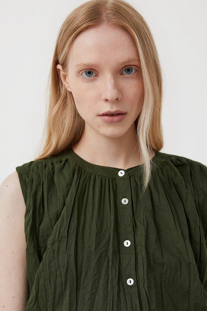 Удлиненная хлопковая блузка, Модель S21-110100, Фото №7