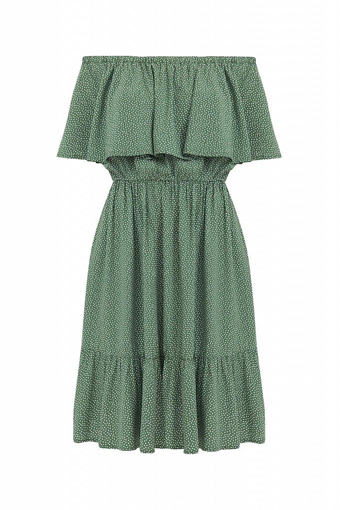 Приталенное платье с принтом, Модель S21-110106, Фото №7