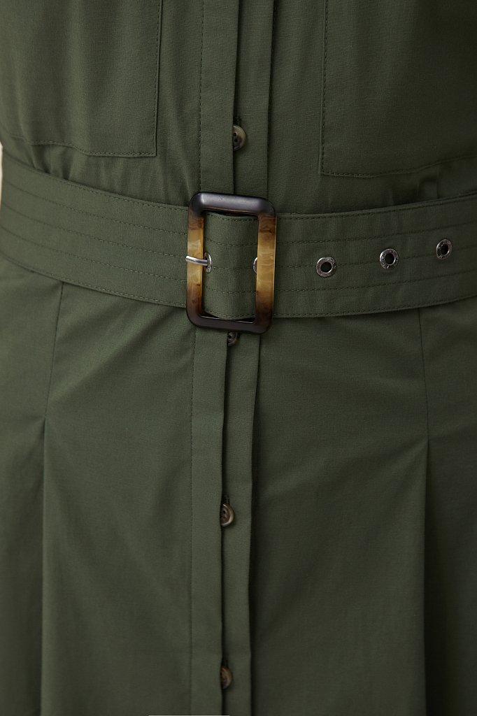 Короткое платье-рубашка из хлопка, Модель S21-11053, Фото №5
