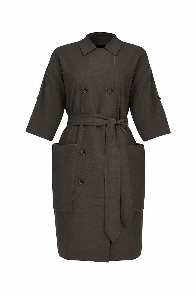 Платье-жакет с поясом, Модель S21-11063, Фото №8