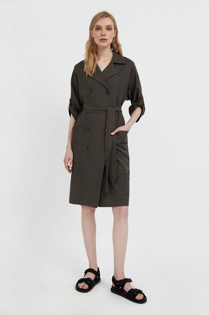 Платье-жакет с поясом, Модель S21-11063, Фото №3