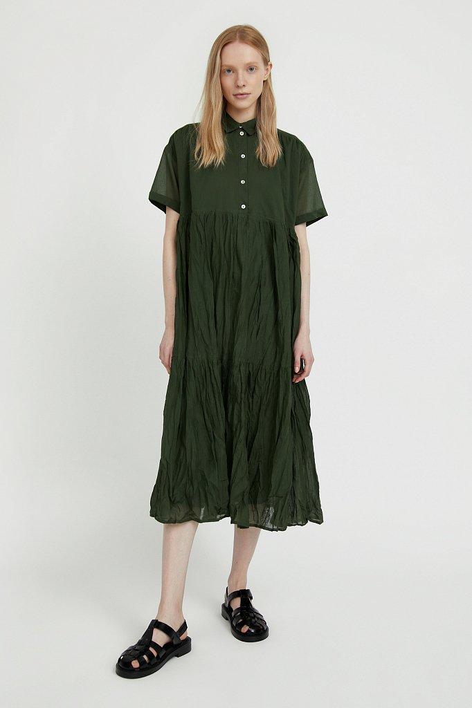 Платье миди из хлопка, Модель S21-11069, Фото №1