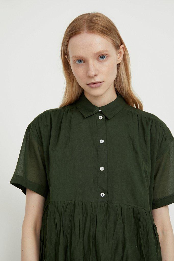 Платье миди из хлопка, Модель S21-11069, Фото №6