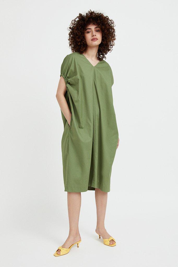 Платье прямого кроя из хлопка, Модель S21-11081, Фото №2