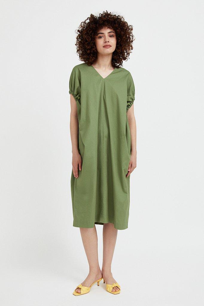 Платье прямого кроя из хлопка, Модель S21-11081, Фото №3
