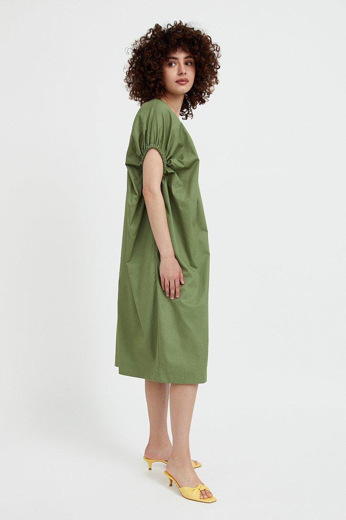Платье прямого кроя из хлопка, Модель S21-11081, Фото №4