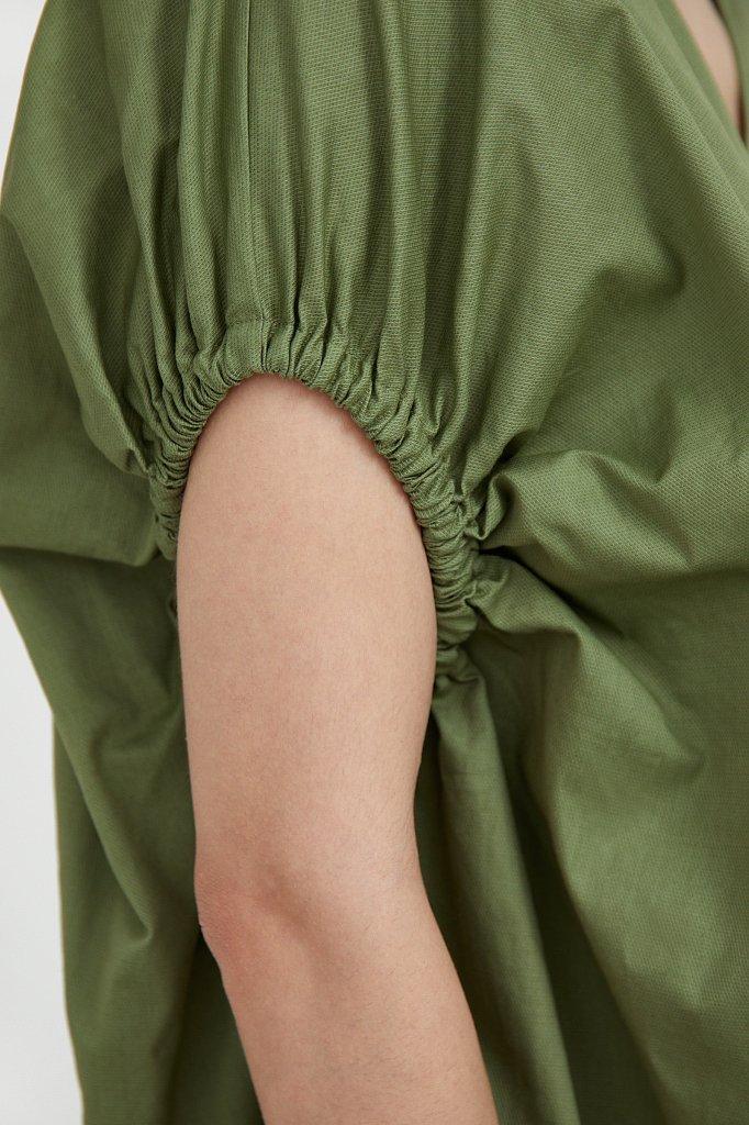 Платье прямого кроя из хлопка, Модель S21-11081, Фото №6