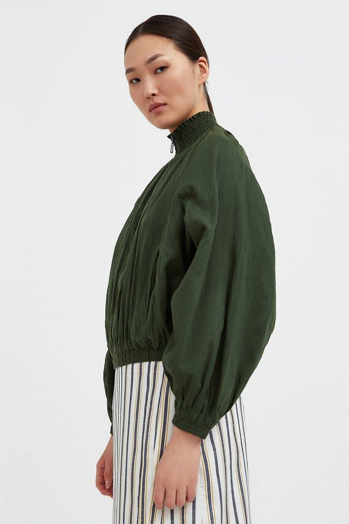 Хлопковая куртка на молнии, Модель S21-11097, Фото №3