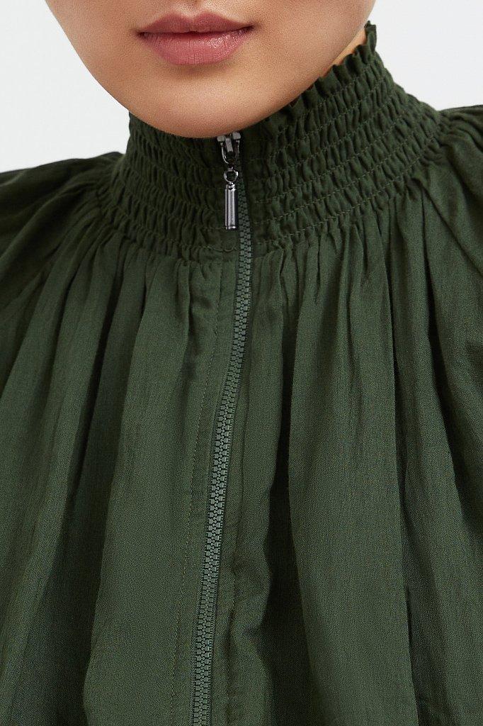 Хлопковая куртка на молнии, Модель S21-11097, Фото №5